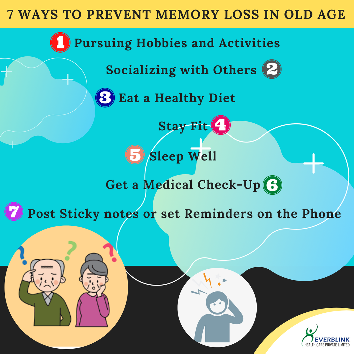 7 Ways to Prevent Memory Loss in Old Age #EverblinkHealthcare #elderlycare  #care pic.twitter.com/qpJOR5ObXd