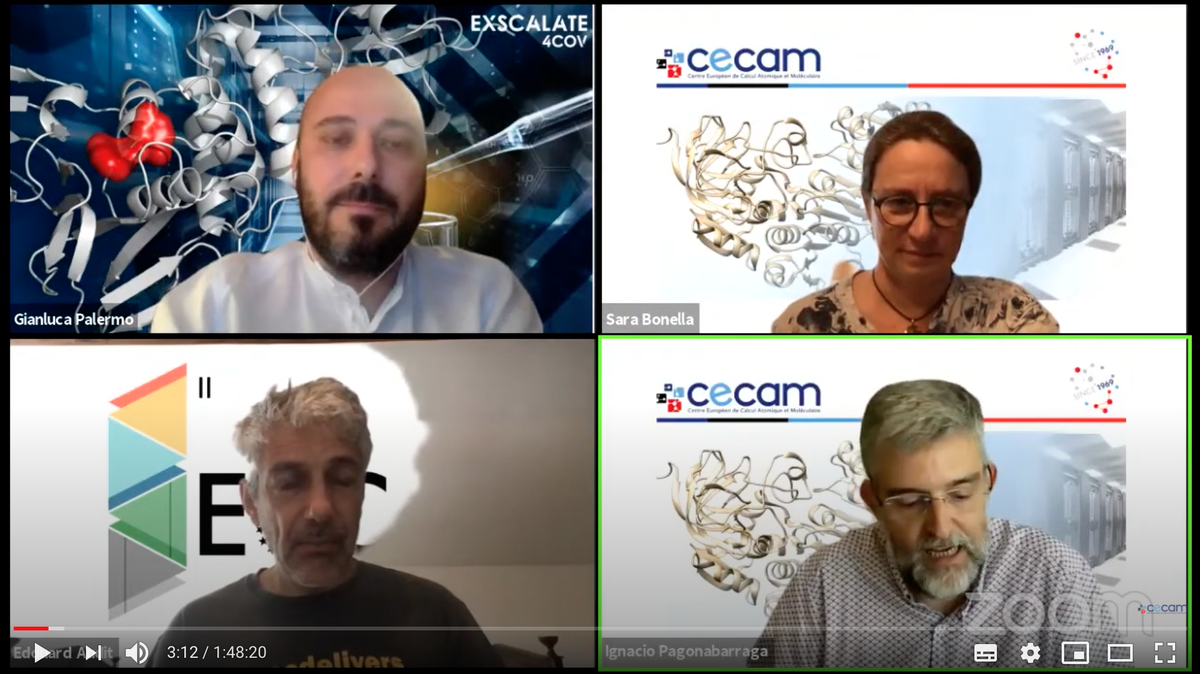 On July 9, @polimi prof. @gianlucapalermo told about the birth and development of the @exscalate4cov project to @cecamEvents. Look at it here #E4C #H2020 https://t.co/knZZ6SlbWg https://t.co/ulaS618mLy
