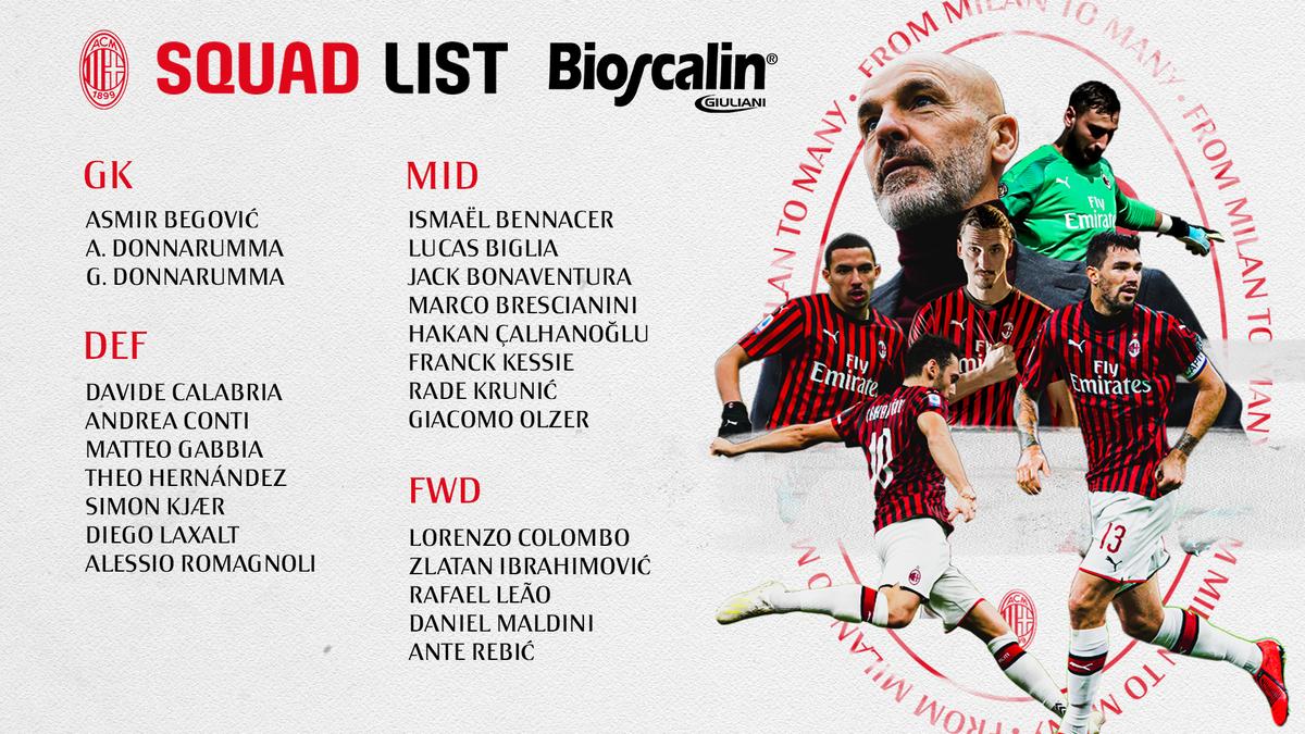 Another match is upon us, here's the squad 👇🏼 Ecco i convocati rossoneri per la gara di San Siro 📜 #MilanParma #SempreMilan https://t.co/QC28KlFal7