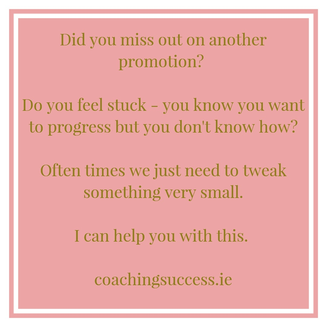 Never miss another promotion or opportunity again.   http://coachingsuccess.ie  #businesscoaching #careercoaching #leadershipcoaching #successpic.twitter.com/zyKxaeA7nX