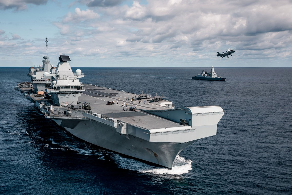 """.@RoyalAirForce to trial UAVs from @RoyalNavy's QE-class carriers, @ChiefofAirStaff notes at #ASPC20. 216 Sqn to evaluate swarming drones, and #Tempest 'loyal wingman' to be tested also. """"This is happening now, and further developments are expected towards the end of this year."""" https://t.co/F0z1QpvNGE"""