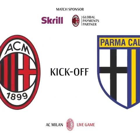 #MilanParma: and so it begins! 💪🏼  Forza Rossoneri 🔴⚫️  @skrill #SempreMilan https://t.co/RFvx2Nx7Bj