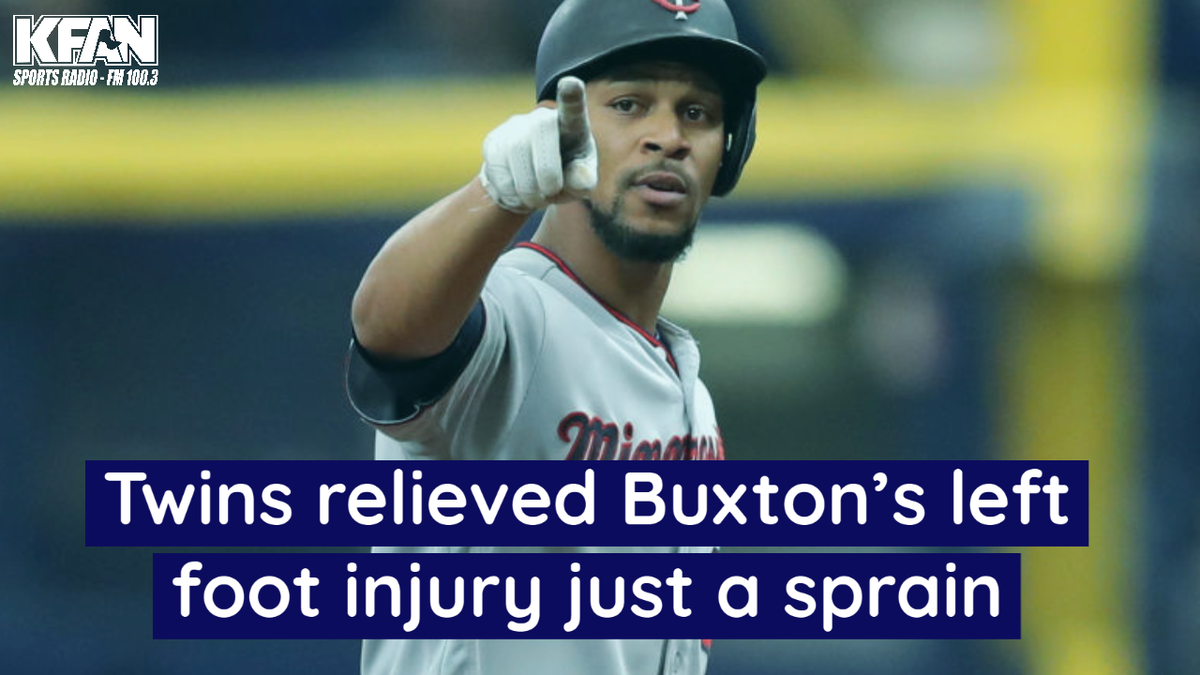 Twins relieved Buxtons left foot injury just a sprain | KFAN 100.3 FM ihe.art/HTXQ2ZI
