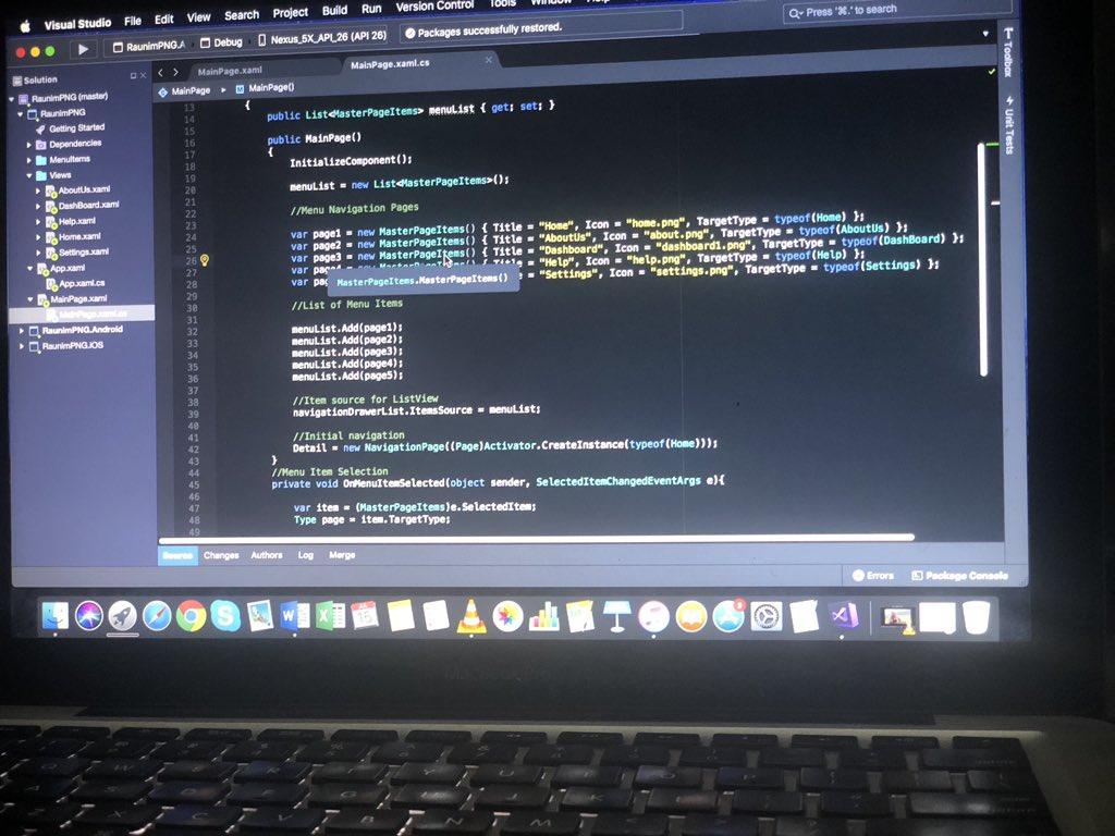 Cross platform app project I'm working on. Coding in progress but needs content though  #VisualStudio #CSharp pic.twitter.com/hw0lv8J6kr