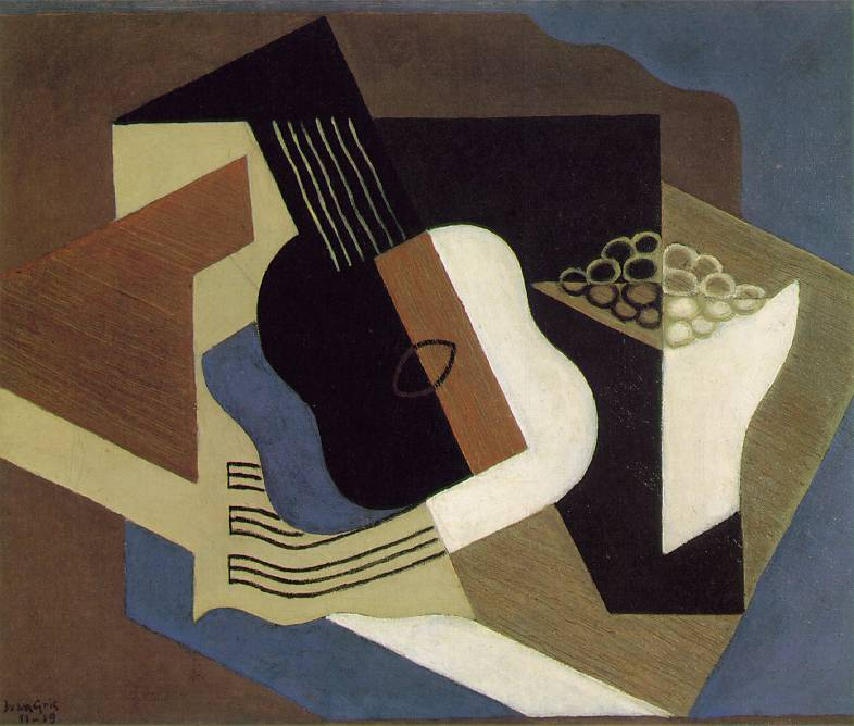 Guitar and fruit dish, 1919 #juangris #cubism<br>http://pic.twitter.com/6XgzlgrGNg