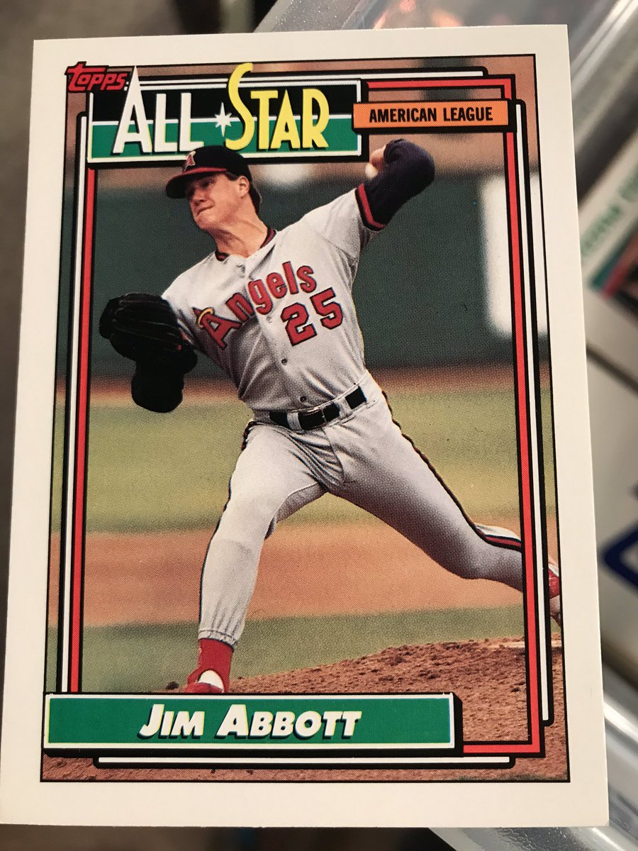 Jim Abbott was born without a right hand & overcame it to pitch a decade in the big leagues and win Olympic gold in 88. Had some great seasons, especially w/ the Angels. Pitched for the Sox in 95 & 98. Had 2 hits as a batter in 99. Threw a no-hitter in 93: youtu.be/s-11R0f7I0g