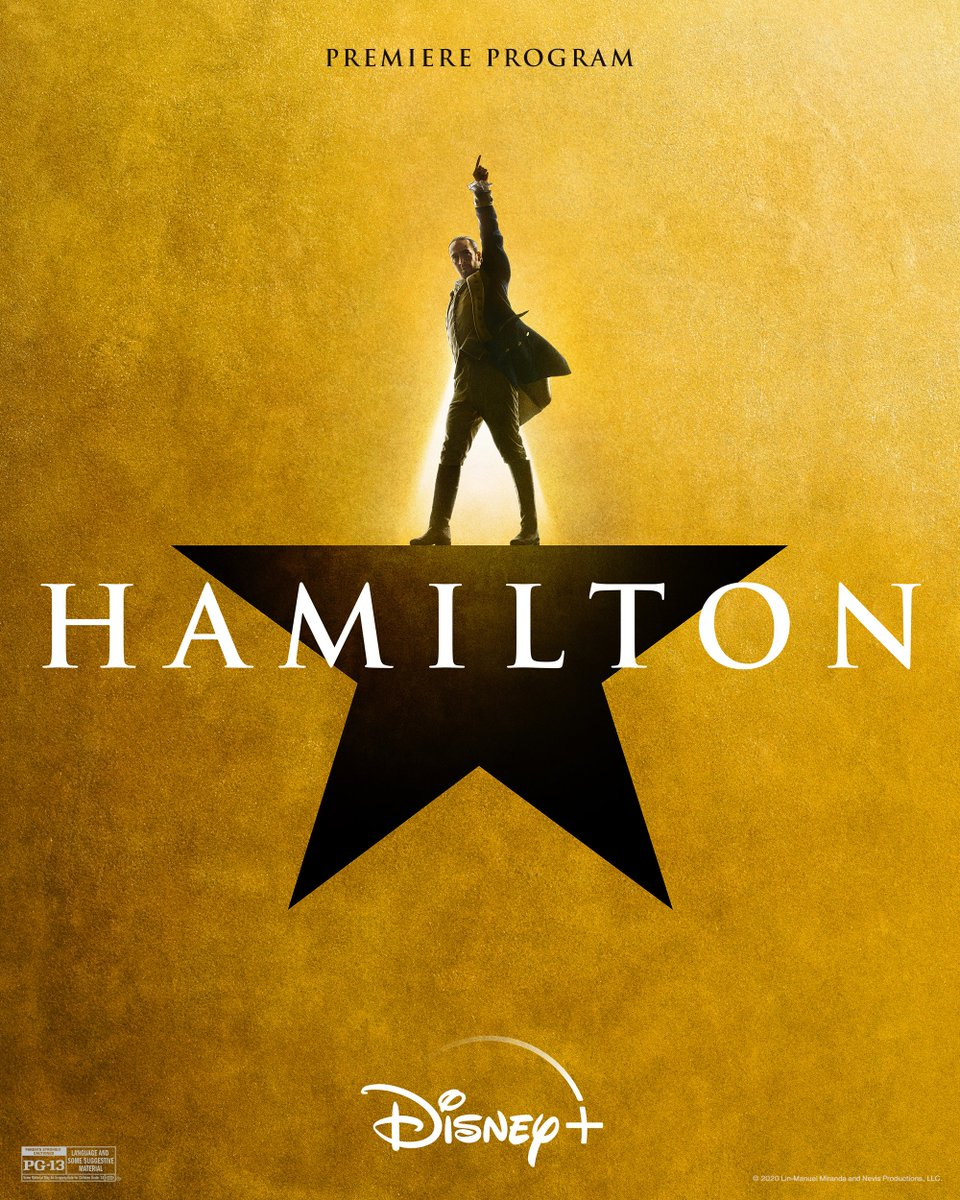 Get your #Hamilfilm program right here! Don't throw away your shot to watch #Hamilton, now streaming only on #DisneyPlus. https://t.co/8q57be56Yz