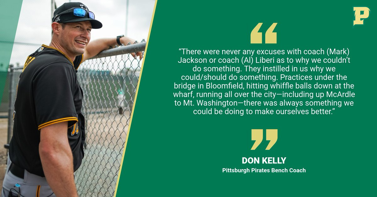 Don Kelly knows a thing or two about creativity of baseball teams. Drafted out of @PointParkU, he's now the Bench Coach for the @Pirates, who open up camp today amid COVID-19. Here's our feature about his role & what he brings to the Bucs: https://t.co/JvlYSNdian @PPUBaseball https://t.co/JUF8e9cln4
