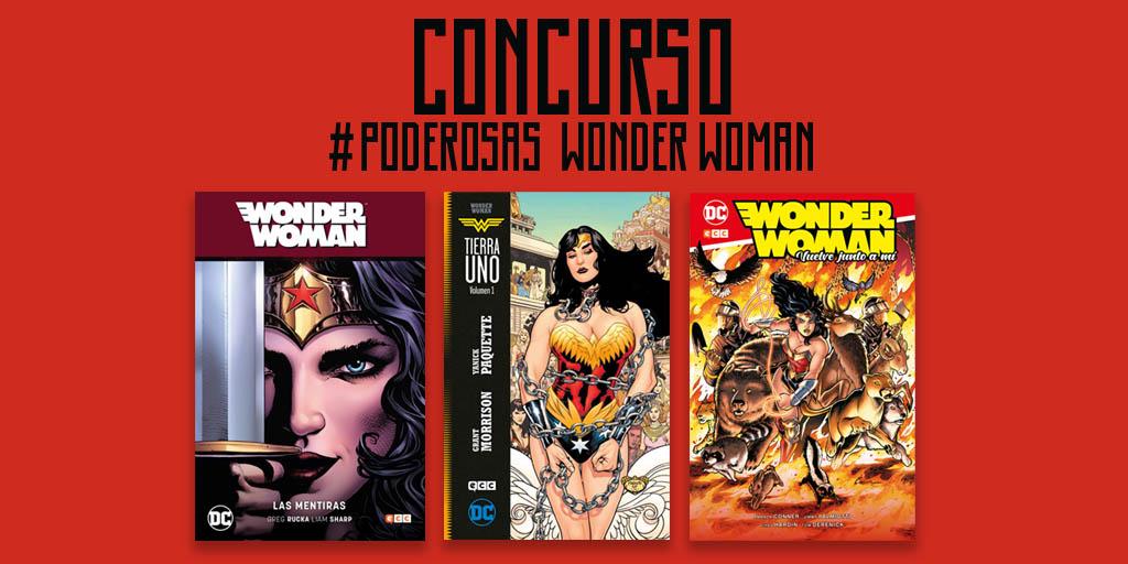 QUINTO CONCURSO #Poderosas Sorteamos un ejemplar de #WonderWoman: Especial Wonder Woman 750. 1. Sigue a @eccediciones 2. Haz RT a este tweet 3. Responde: ¿en qué año debutó Wonder Woman en el cómic? Si participas entras también en el sorteo de un pack de cómics de #WonderWoman