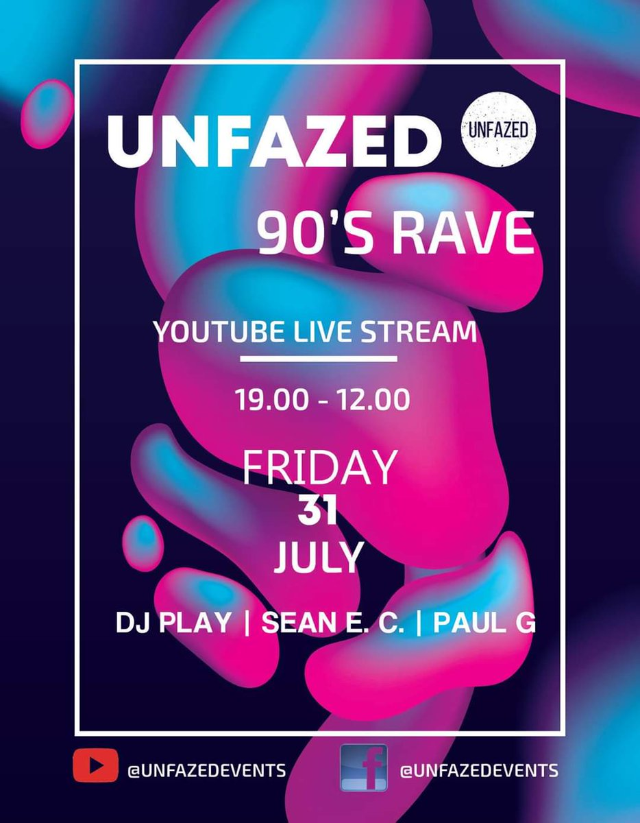 @UnfazedEvents  is back! Via Live stream.  https://facebook.com/events/s/unfazed-90s-rave-live-stream/1957619324370408/?ti=cl … #SupportLocalTalent #SupportLocalEventspic.twitter.com/OUWSezsFr8