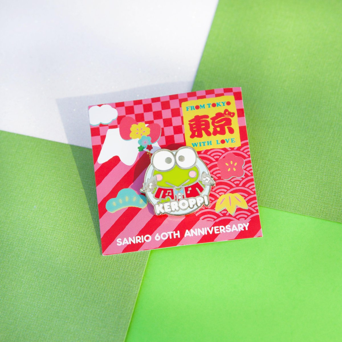 New Friend of the Month pin is here! 💚 Hop to it and get this collectible #Keroppi pin FREE when you spend $35 or more in Sanrio stores and online with code JUNEPIN20: bit.ly/2YWWRGW #Sanrio60