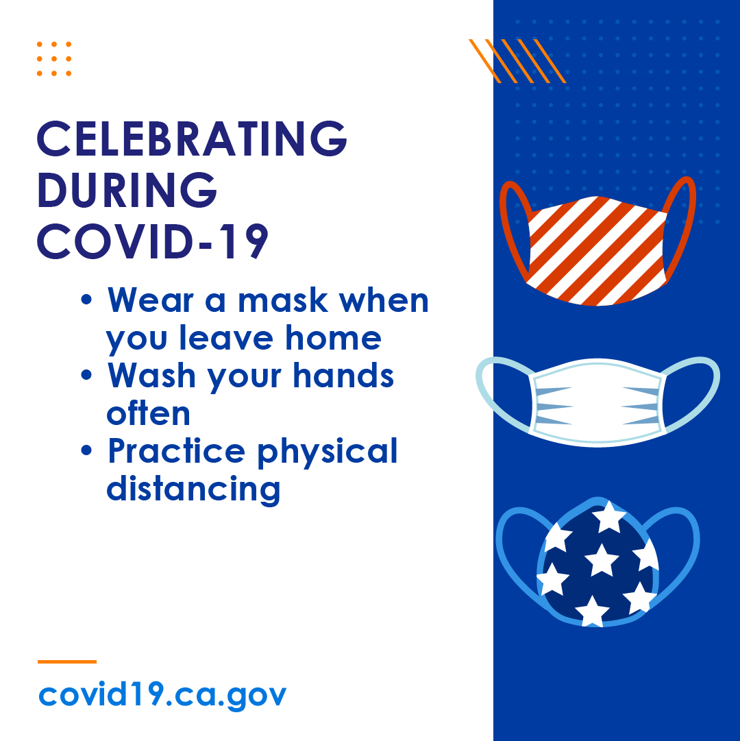 This 4th of July weekend, protect the people you love by wearing a face covering to #SlowtheSpread of #COVID19 when in public or when physical distancing is not an option. #YourActionsSaveLives  Learn more at https://t.co/z5l4vxMwvR https://t.co/9M0VBRLqOR