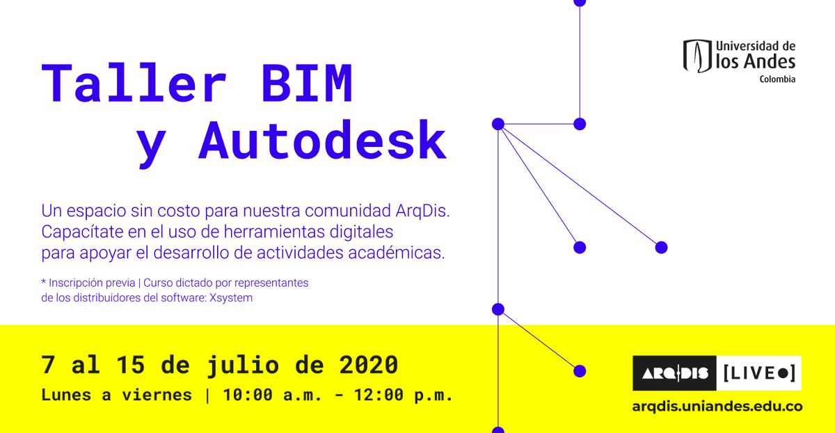 ¿Quieres ser parte del Taller BIM y Autodesk?   Inscríbete a través de https://t.co/1mguKEUeRr a este espacio para nuestra comunidad #ArqDisUniandes. Capacítate en el uso de herramientas digitales que apoyan el desarrollo de actividades académicas.  Fechas: 7 al 15 de julio 2020 https://t.co/T9a9ebu8U0