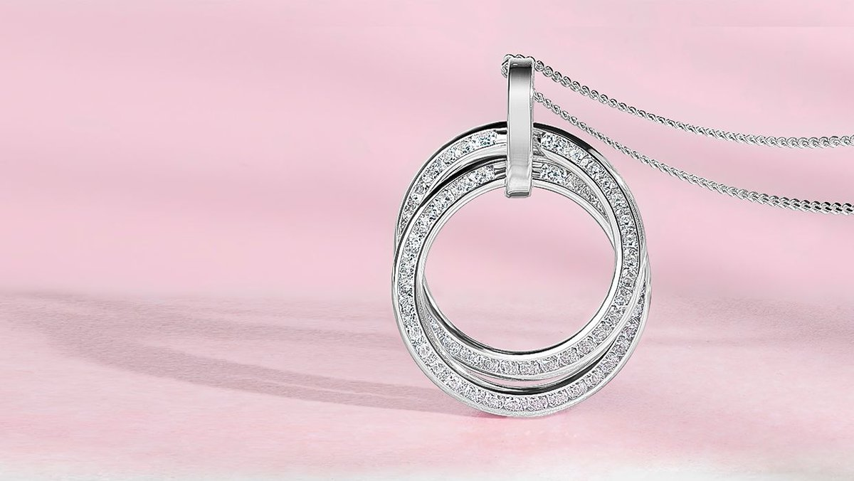 Add the finishing touch to your outfit with this Double Circle Pendant in white gold. Two circles decorated with cubic zirconia interlock to complete this chic pendant design. https://t.co/ovu9JiJMkf  #SparkleWithFraserHart #WhiteGoldJewellery https://t.co/btxFt10wJB