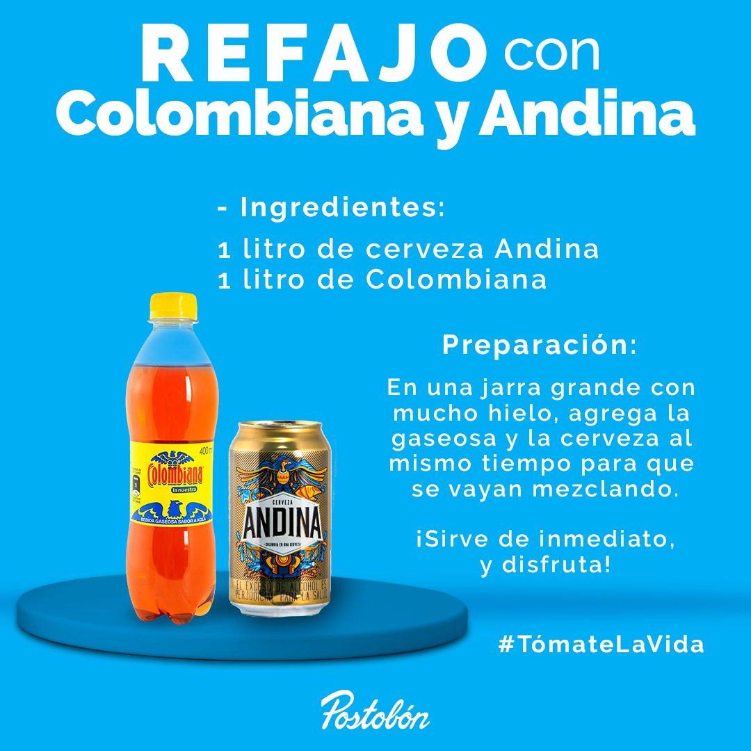 Mira esta fácil receta para hacer refajo, por supuesto, con @Colombiana_LN y @CervezaAndinaCo ¿Se te antoja? Pide los productos en https://t.co/1GLD1zpL3k y #TómateLaVida con Postobón. 💙 https://t.co/s8YgL8BSAh