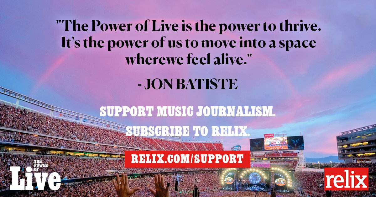 For our latest issue, we interviewed @JonBatiste about The Power of Live Music. Read the full story, plus more interviews and articles with your favorite artists by subscribing to Relix magazine by 7/13. Support Music Journalism. Subscribe to Relix --> relix.com/support