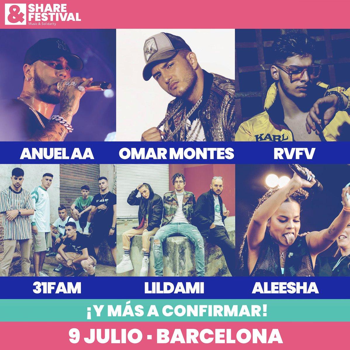 """SHARE Festival BCN on Twitter: """"🔥 Así queda el CARTEL COMPLETO ..."""