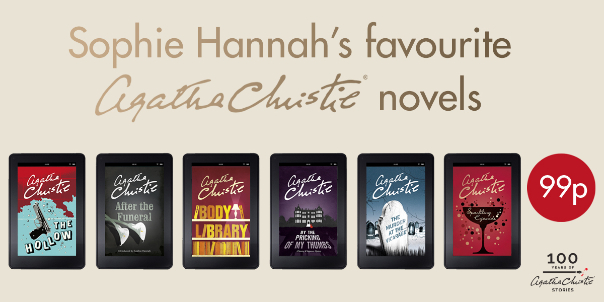 🇬🇧 Celebrate 100 Years of Christie with Sophie Hannah's favourite titles! Six Agatha Christie books are just 99p today. Make the most of this 24 hour Amazon offer, and stock up on your kindle: bit.ly/SophieHannahFa… #100YearsofChristie