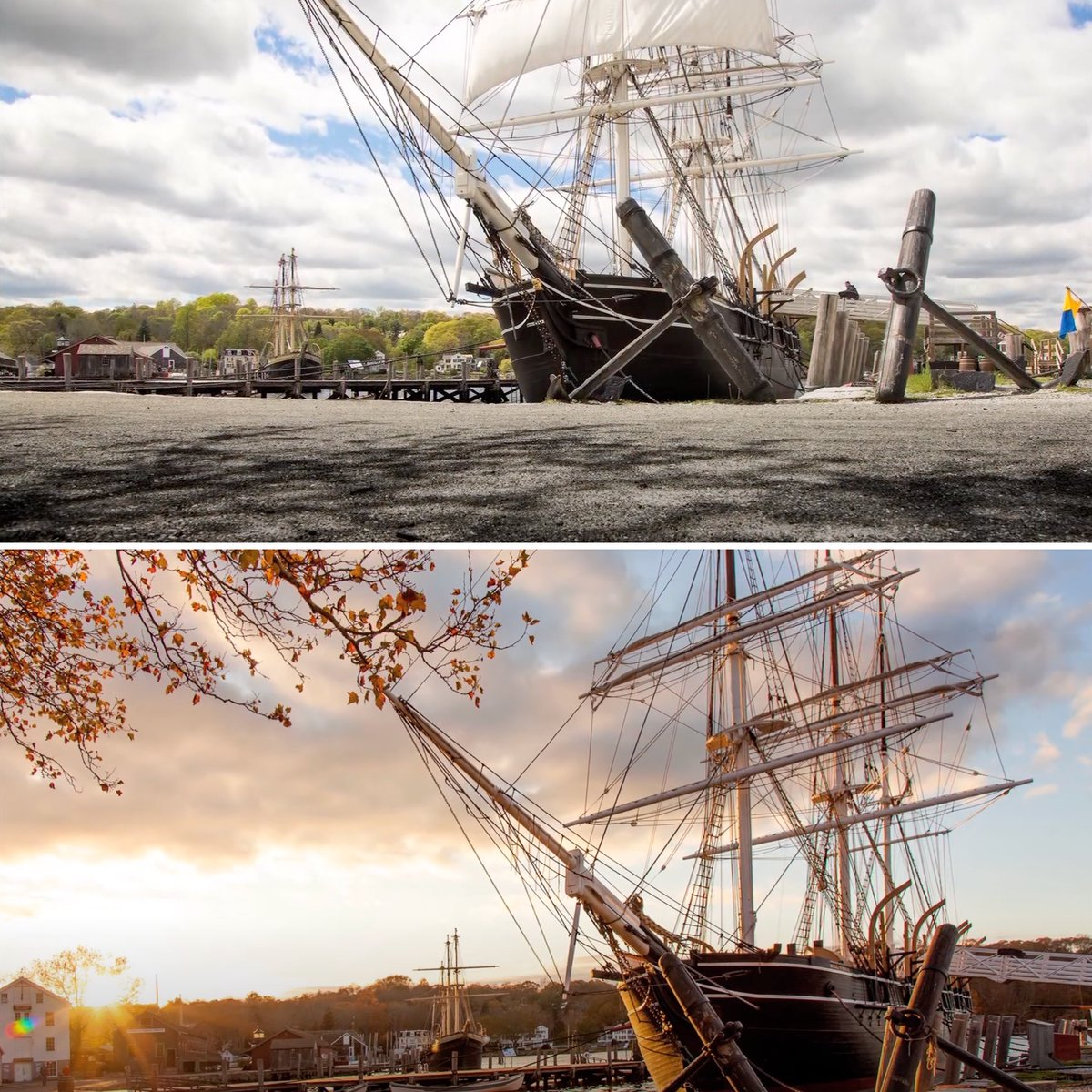 As the sun sets, the longer, softer shadows can create greater depth in your photos. Watch this video with staff photographer, Joe Michael, and see how your photo can change minute by minute! https://t.co/9V0UcIdRjU #mysticseaportmusem #phototips #photographyweek https://t.co/Ne48G8OwDT