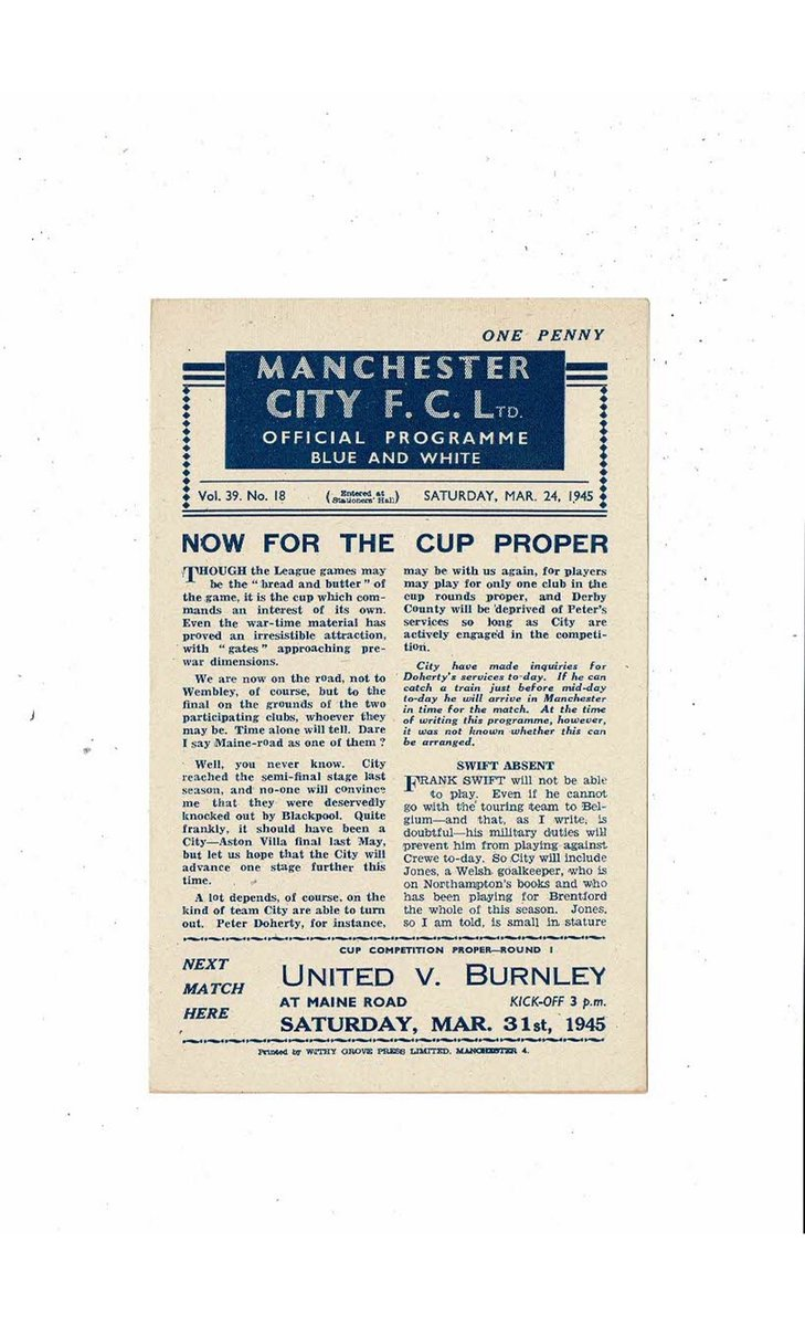 Manchester City Football Programmes from the 1940's now available on http://www.bobsprogs.com  @ManCity @LFC @Wrexham_AFC @Wolves @Everton @ManUtd @StockportCounty @BlackpoolFC @halifaxtown @htafcpic.twitter.com/nAzxfai72C