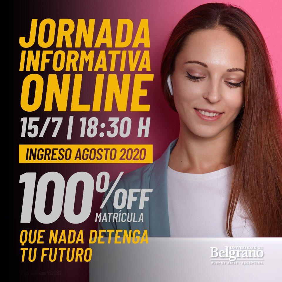 La #Universidad de Belgrano te invita a participar de la reunión informativa, donde te presentaremos nuestra propuesta educativa.  Inscribite  👉 https://t.co/AR9bus0wbE y Desafiá el mundo que viene. #IngresoAgosto https://t.co/e4wdBxzlqh