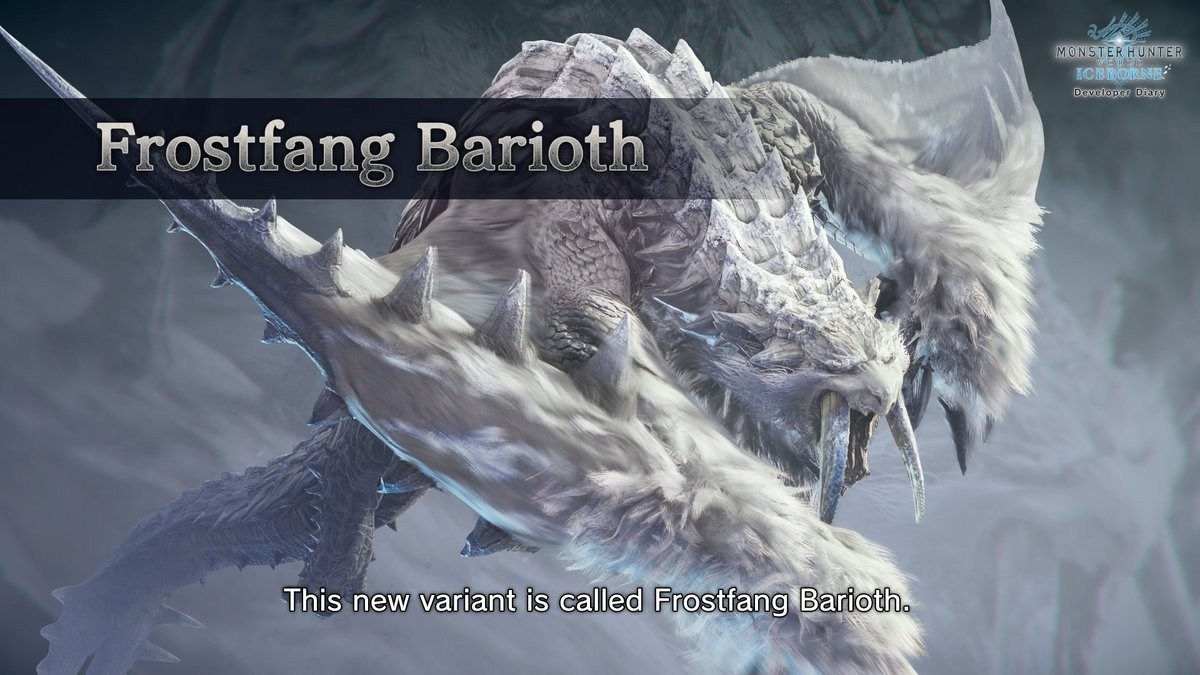 Arekkz On Twitter The New Monster Is Frostfang Barioth Not