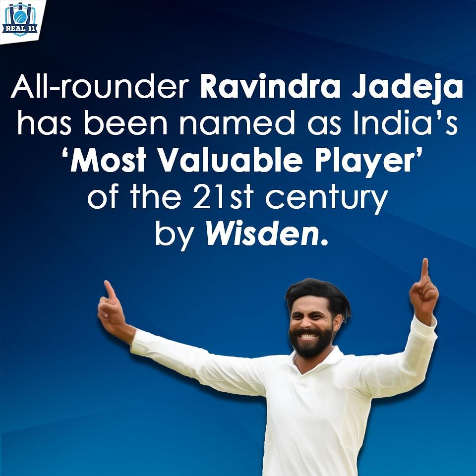Take a bow Sir Ravindra Jadeja @imjadeja  #jadeja #sirravindrajadeja #rajputana #jaddu #wisden2020  #postoftheday #picoftheday #sportspicks #fantasysports #Real11APP #cricketfever  #cricketforlife #cricketlover #lovecricket #fantasycricketpic.twitter.com/FHqBbcjXD0