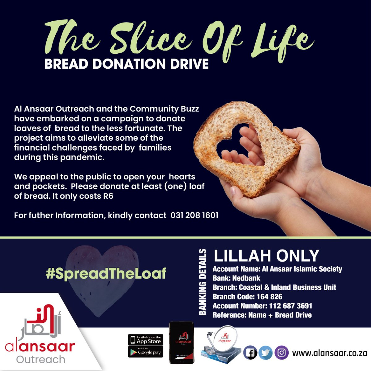 Please open your hearts and pockets in support of this project  #makeadifference #bread #loafofbread #spreadtheloaf #sliceoflife #covid19 #coronavirus #coronavirusoutbreak #charity #Islam #food #hygiene #essentials #people #ummah #beloved #ngo #donate #alansaarfoundation
