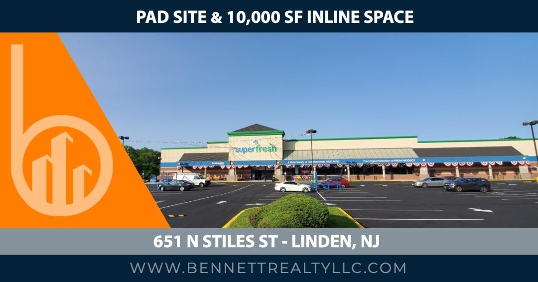 Join #Superfresh Food World! #Padsite and 10,000 SF of inline #RetailSpace Available  Click for more info. 👇👇👇👇   Bennett Realty & Development    #bennettrealtydevelopment #cre #superfresh #linden #NJ #retail #food #fashion