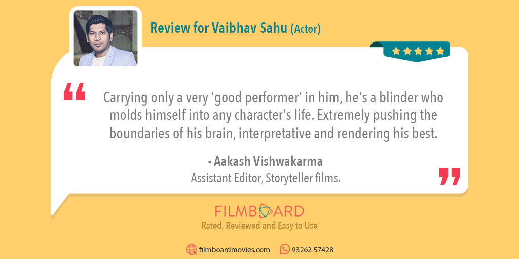 Aren't reviews of past work helpful when you want to book someone's services? After all, filmmaking is serious business.  Filmboard is a fully reviewed site offering complete information.  Here's one latest review.  #actors #filmmaking #filmproduction #reviews #filmboardmoviespic.twitter.com/Zyms4XDedG