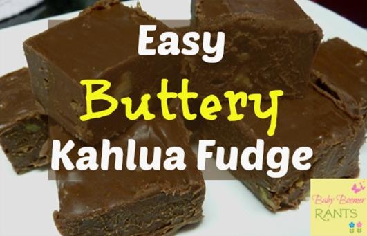 Easy Buttery Kahlua Fudge!    #fudge #chocolate #yummydessert #treat #recipe #food