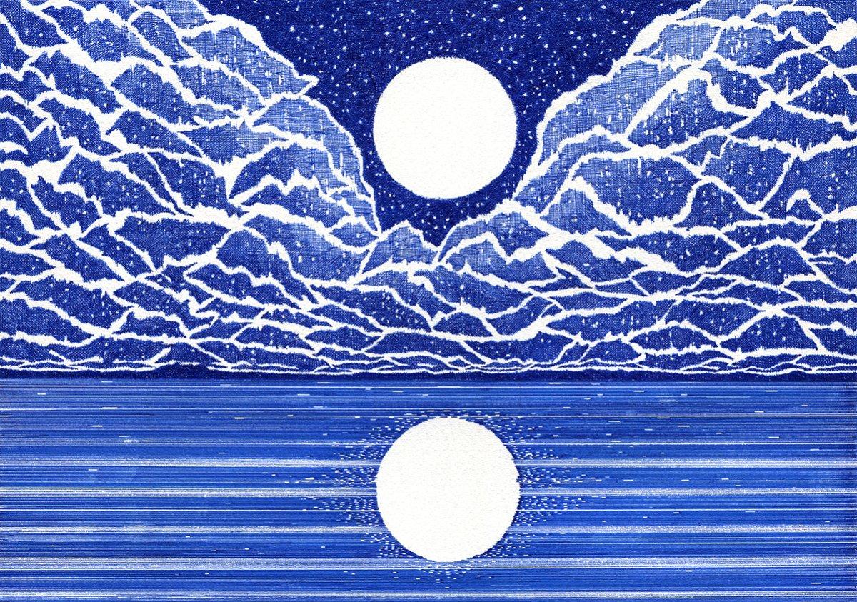 #dessins à lencre bleue de © Kevin Lucbert