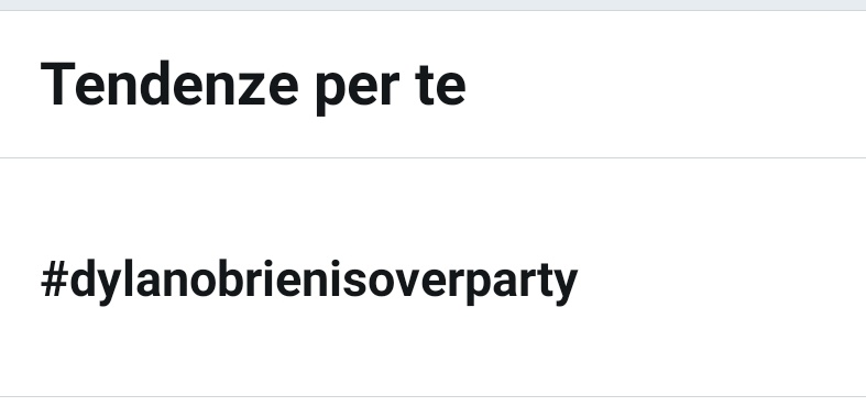 #dylanobrienisoverparty
