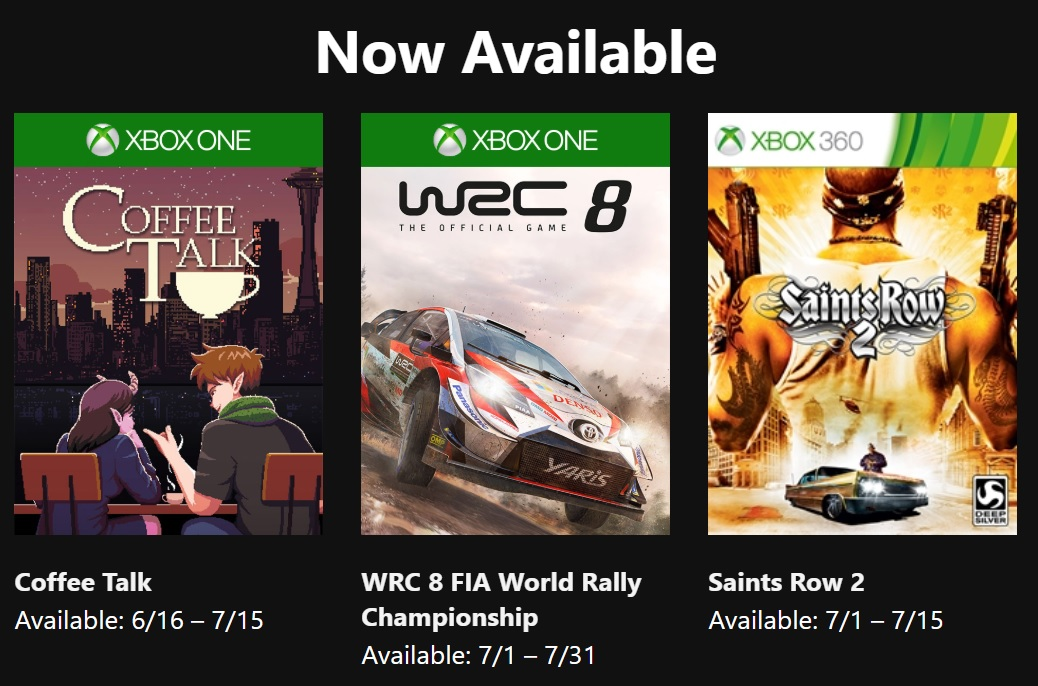 """New """"Games With Gold"""" available on XBOX  https://www.xbox.com/en-US/live/gold?xr=shellnav…  #TyrantTarnation #Tyrant #Tarnation #Gaming #Games #Gamer #GamerLife #Gameplay #gamememes #gamememe #PS4 #PS4Share #XboxOne #Xbox360 #Xbox #Playstation #Microsoft #Nintendo #nintendoswitch #XboxLive #GamesWithGoldpic.twitter.com/KA0avrQkQD"""