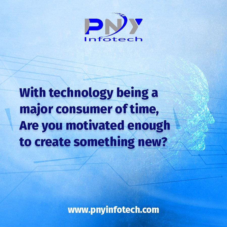 Stay motivated, keep creating!! #technology #technologyinnovation #motivational #quote #motivationalquote #pnyinfotechpic.twitter.com/Uu7Ojzcngj