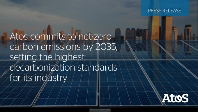 #Decarbonization is an integral part of @Atos strategy, and we intend to be pioneers...