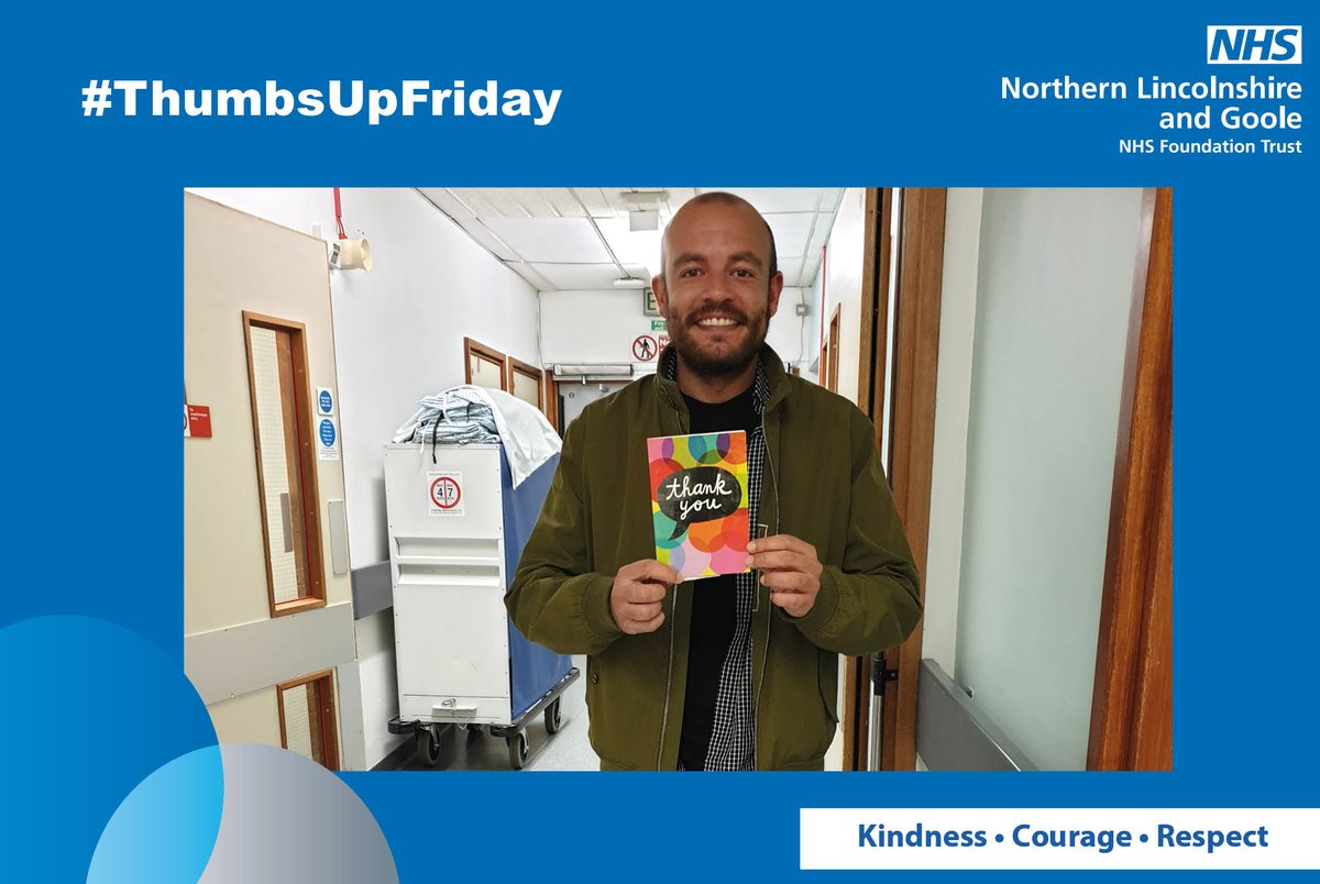 A big #ThumbsUpFriday to Charge Nurse Antonio Ruiz Lopez, who works in Scunthorpe hospital A&E, for helping out Dave Curzon when he came into the department. On being discharged from A&E, Dave booked a taxi but the taxi firm could not take a card payment. Antonio gave Dave £10. <br>http://pic.twitter.com/hBZzni6mBp