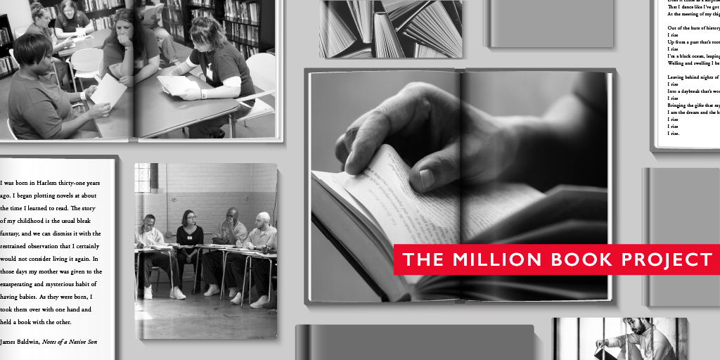 Freedom, dignity, hope. Knowledge, meaning, imagination. What does a book symbolize to you?   Tell us and learn more about how our #MillionBookProject is expanding and transforming the role of literature for #socialjustice: http://ow.ly/FT2t50Annfnpic.twitter.com/RX2diGzQlq