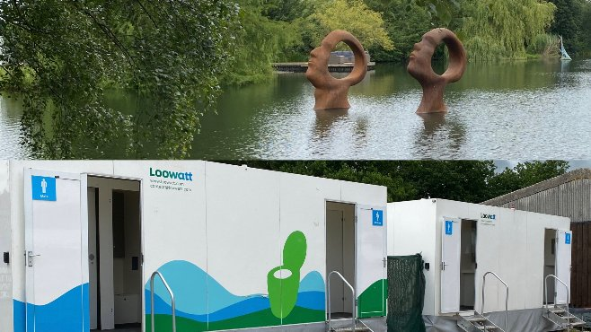 We're delighted Loowatt portables are back in action, with more demand due to COVID. Here we are in an exceptionally lovely setting, @SculptureLakes  in Dorset. https://t.co/XjTi0TVD8b