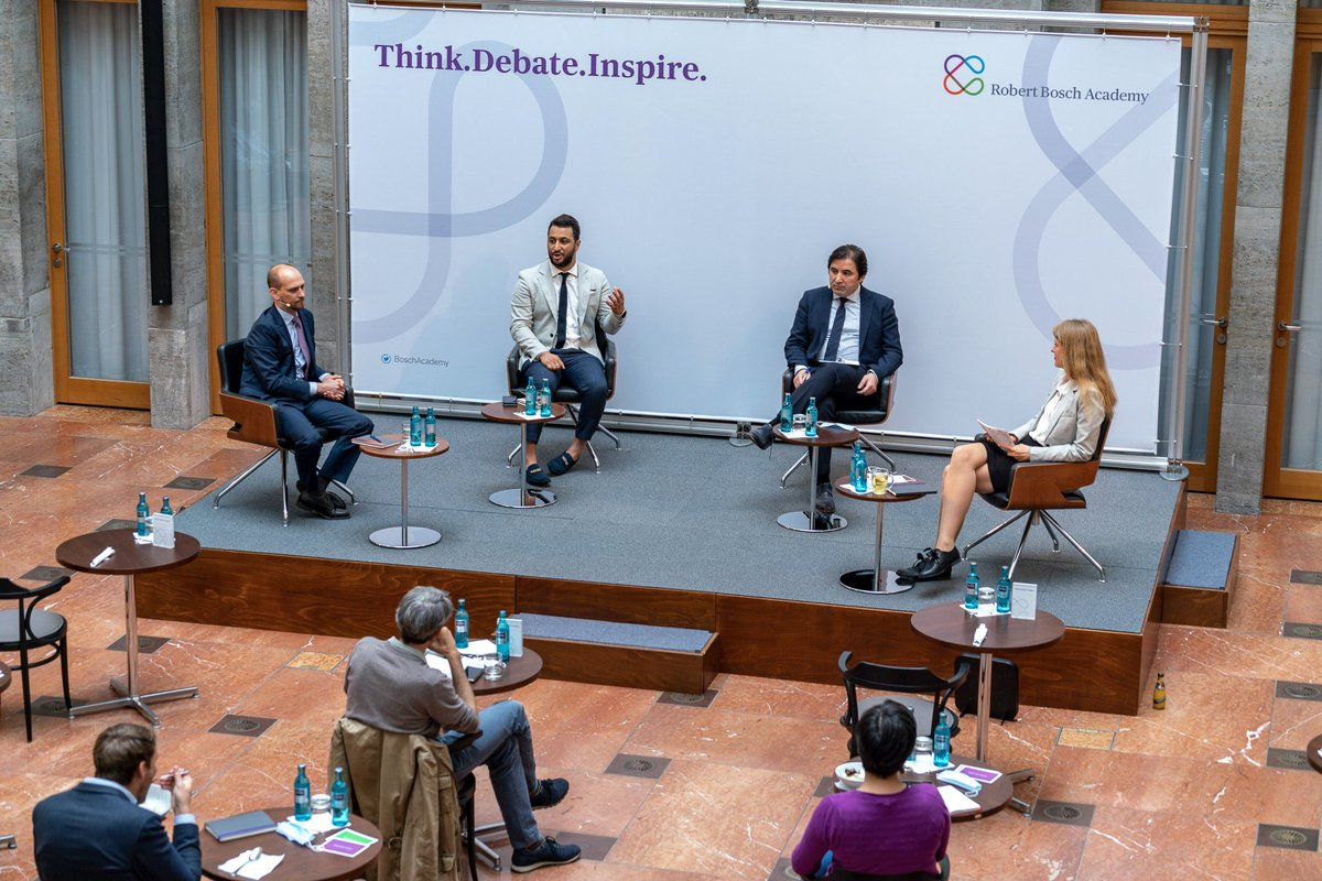 Here's a look at what the new normal for think tanks could look like over the coming years.   After 119 days of isolation, I took my first flight & spoke at my first physical event this week with @W_Lacher & @GalipDalay on Europe's choices in #Libya hosted by @BoschAcademy https://t.co/7PAM0mFVPZ