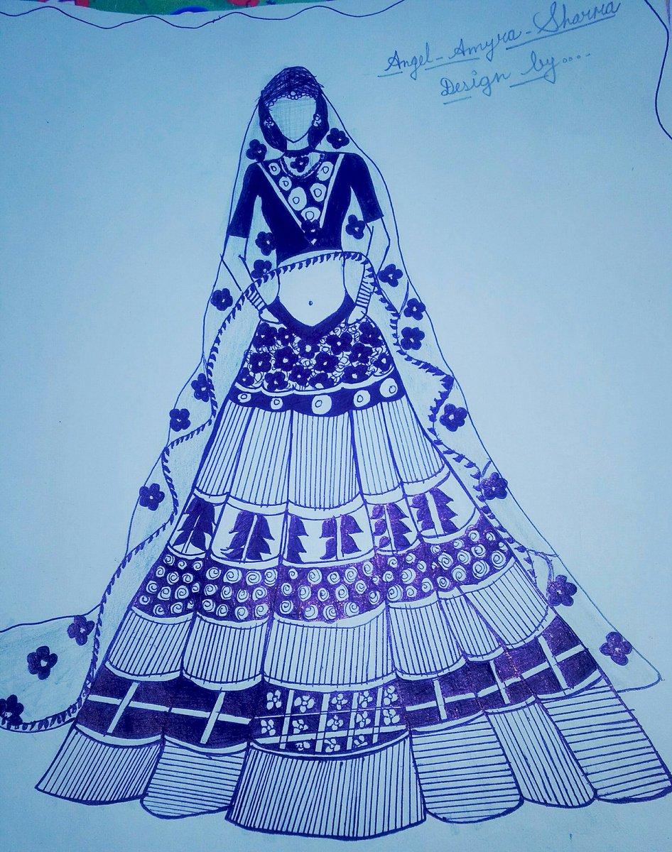 Design by mee....... #lehenga #fashionable pic.twitter.com/GA2XThfD6i
