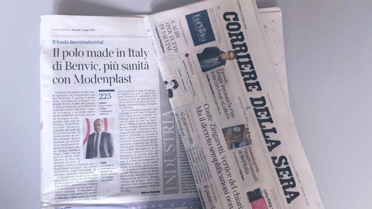 Luc Mertens, AD di #Benvic, su @Corriere racconta le strategie di sviluppo nel settore dei #biopolimeri per uso medicale ➡️ Abbiamo intenzione di fare investimenti rilevanti e puntiamo a crescere con un obiettivo di fatturato di circa 100 milioni in questo segmento. https://t.co/ubZ0I1nMhC