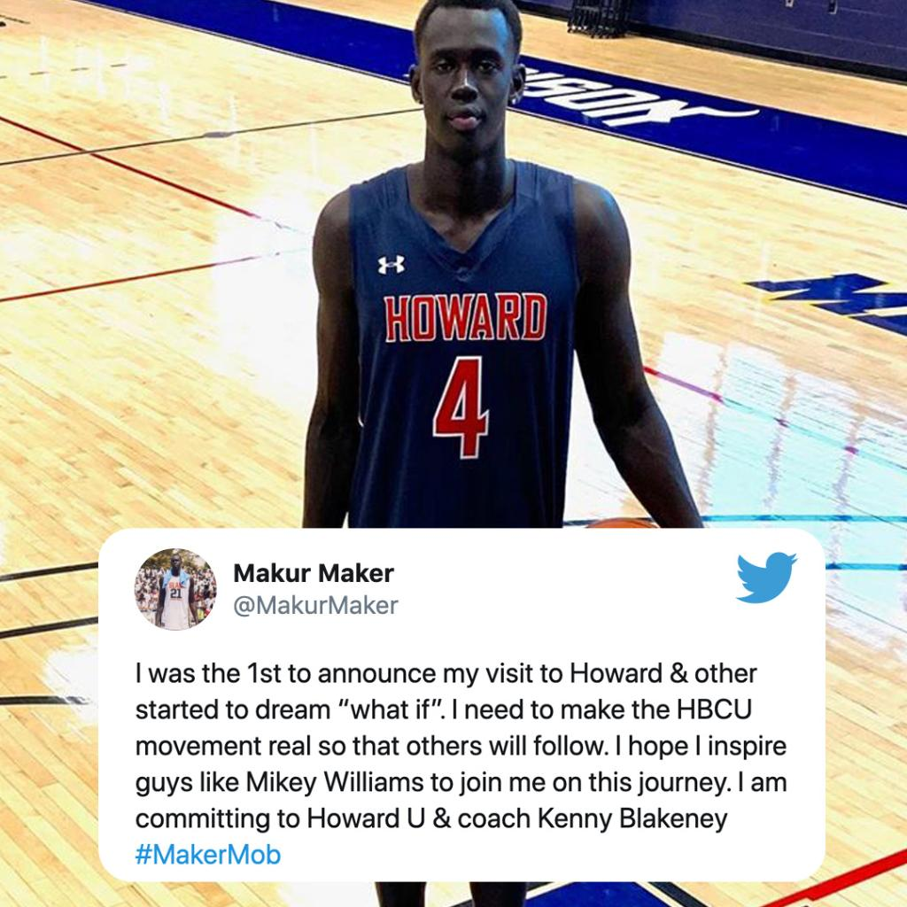 .@MakurMaker chose Howard University over UCLA, along with Kentucky and Memphis who were also on his final list of four. https://t.co/6dZpKPDOT0