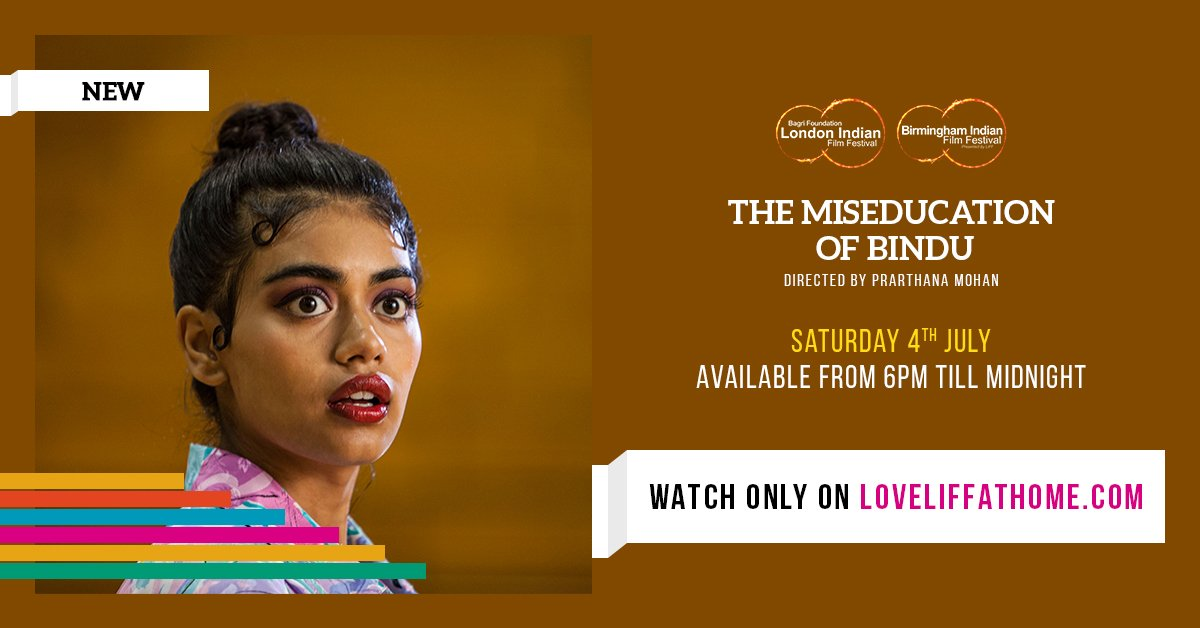 UK Premiere: @MisEdBindu Saturday 6pm-midnight. If you're a fan of Netflix TV series Never Have I Ever, then The MisEducation of Bindu is for you! A high-school comedy starring @priyankabose20 & @DavidArquette by debut Director @PrarthanaMohan watch it at