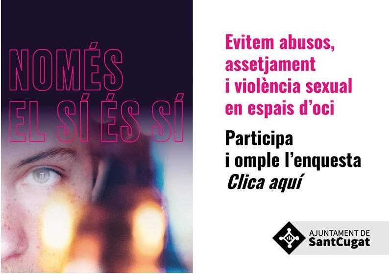 🙋♀️Vols participar a la diagnosi per conèixer la percepció i vivències de les violències sexuals en espais festius de #SantCugat⁉️  📝 Respon l'enquesta ➡ https://t.co/OuEo3AOkim  🎉Construïm unes festes lliures de violències sexuals!  ℹ️donainformacio@santcugat.cat @Nudenu