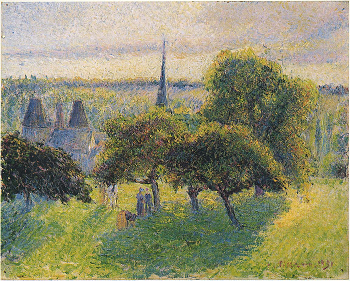 Farm and Steeple at Sunset #カミーユ・ピサロ  #PINTOR #美術館 #アート https://t.co/kSc8bRqUiJ