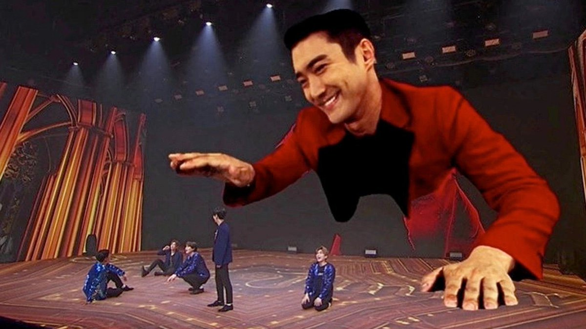 Other kpop groups: *cool AR effects* Meanwhile Super Junior: <br>http://pic.twitter.com/IiiCW50S7y