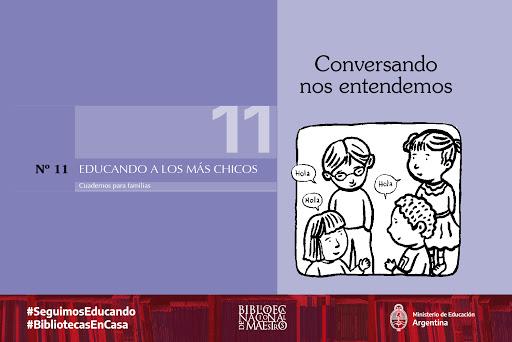#LaBNMEnTuCasa «Conversando nos entendemos» Este cuadernillo ofrece algunas orientaciones para colaborar con el desarrollo y el bienestar de los pequeños. https://t.co/1yYwMwrNJM  #BibliotecasEnCasa #SeguimosEducando https://t.co/pdekBMjnN6