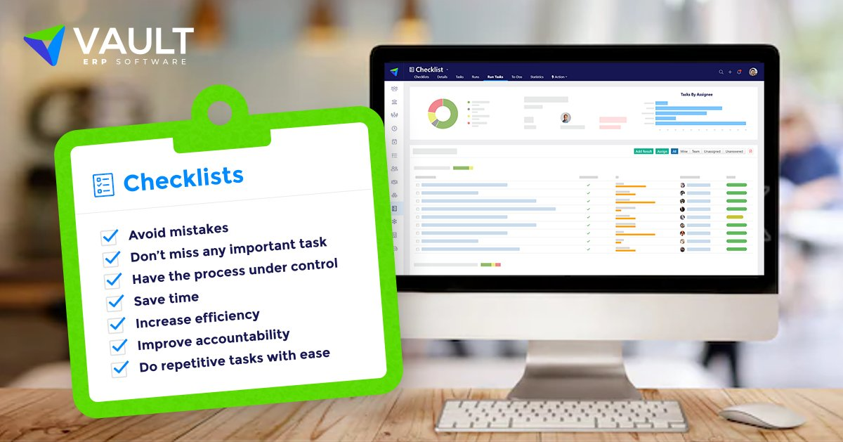 With Vault-ERP's checklists, there is no need to worry about forgetting tasks. See for yourself at http://www.vault-erp.com   #ERP #Vault #VaultERP #Checklists #ERPSystems #Efficiency #ERPSolutions #Softwarepic.twitter.com/LOemZZZvuC