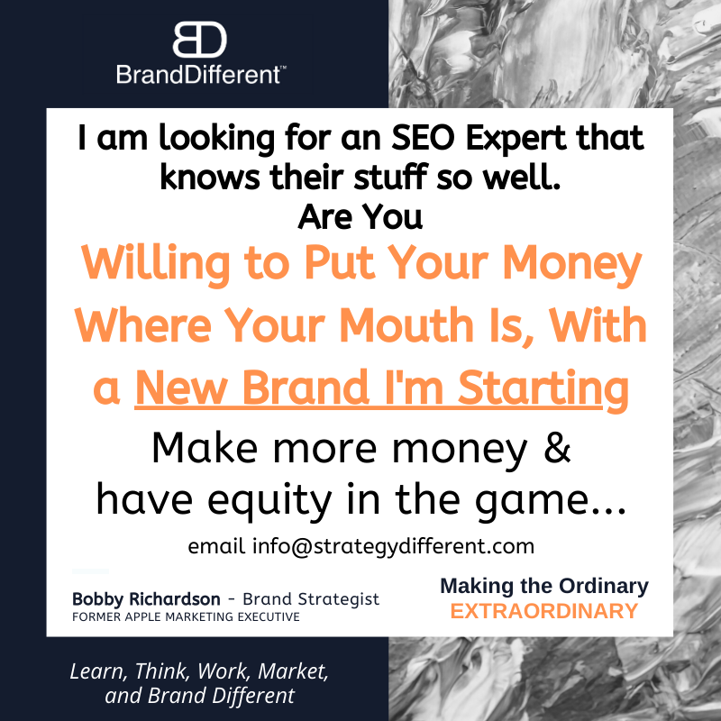 SEO EXPERT WANTED- Partner in one of our new Brands. #digitalmarketer #Websitedesign #SEO #websitedevelopment <br>http://pic.twitter.com/VD9PlopNlD